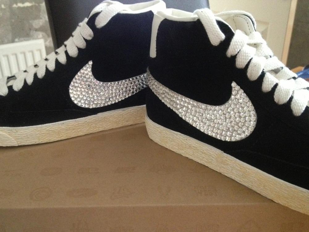 Swarovski Nike Blazers Hi Top Tick Sparkys Sparkle