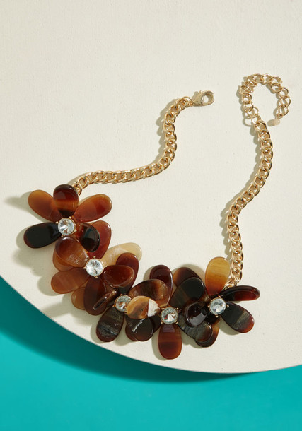 Modcloth statement necklace statement necklace floral jewels