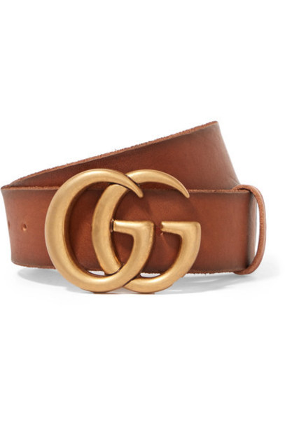 gucci belt leather brown