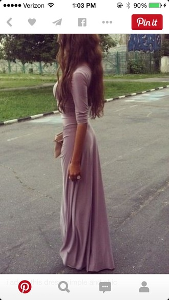 dress purple dress maxi maxi dress long dress long sleeve dress long sleeves simple dress perfecto
