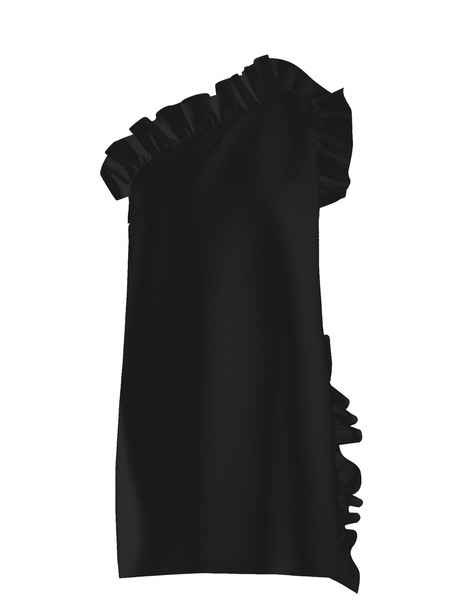 MSGM dress ruffle black