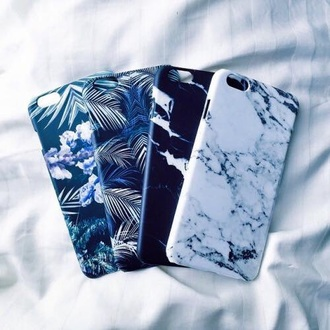 phone cover hipster marble palm tree print blue stone iphone case cover tech iphone cover