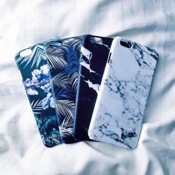 Phone Cover Hipster Marble Palm Tree Print Iphone