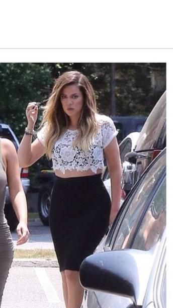 f03617c586d90 skirt crochet top black high waist skirts crop tops lace top lace crop top  lace short