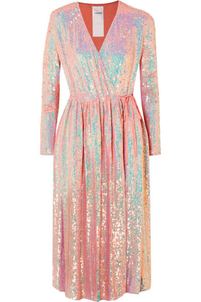 Ashish dress wrap dress silk pink