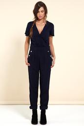 pants,jumpsuit,chipchop,sailor style,sailor look,navy