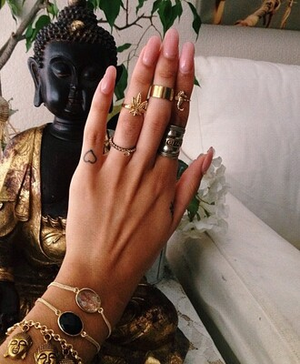 jewels weed buddha jewell jewelry jewellry gold stones precious nails girl zen calm in love tan summer ring bracelets cute lovely