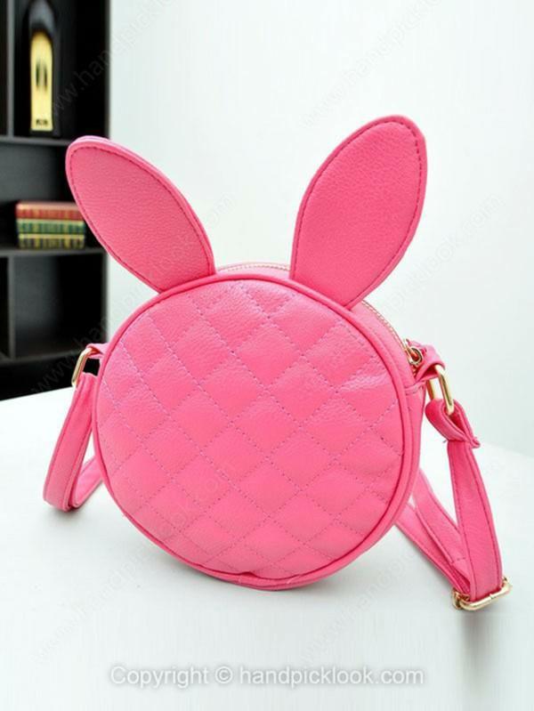 bag shoulder bag pink bag embellished bag bunny