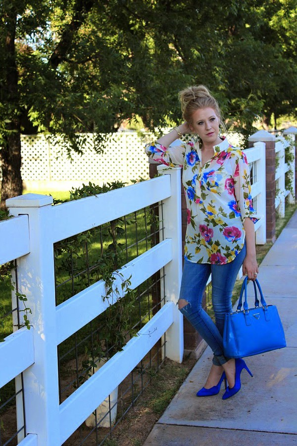 fashion flirtation top jeans shoes bag jewels