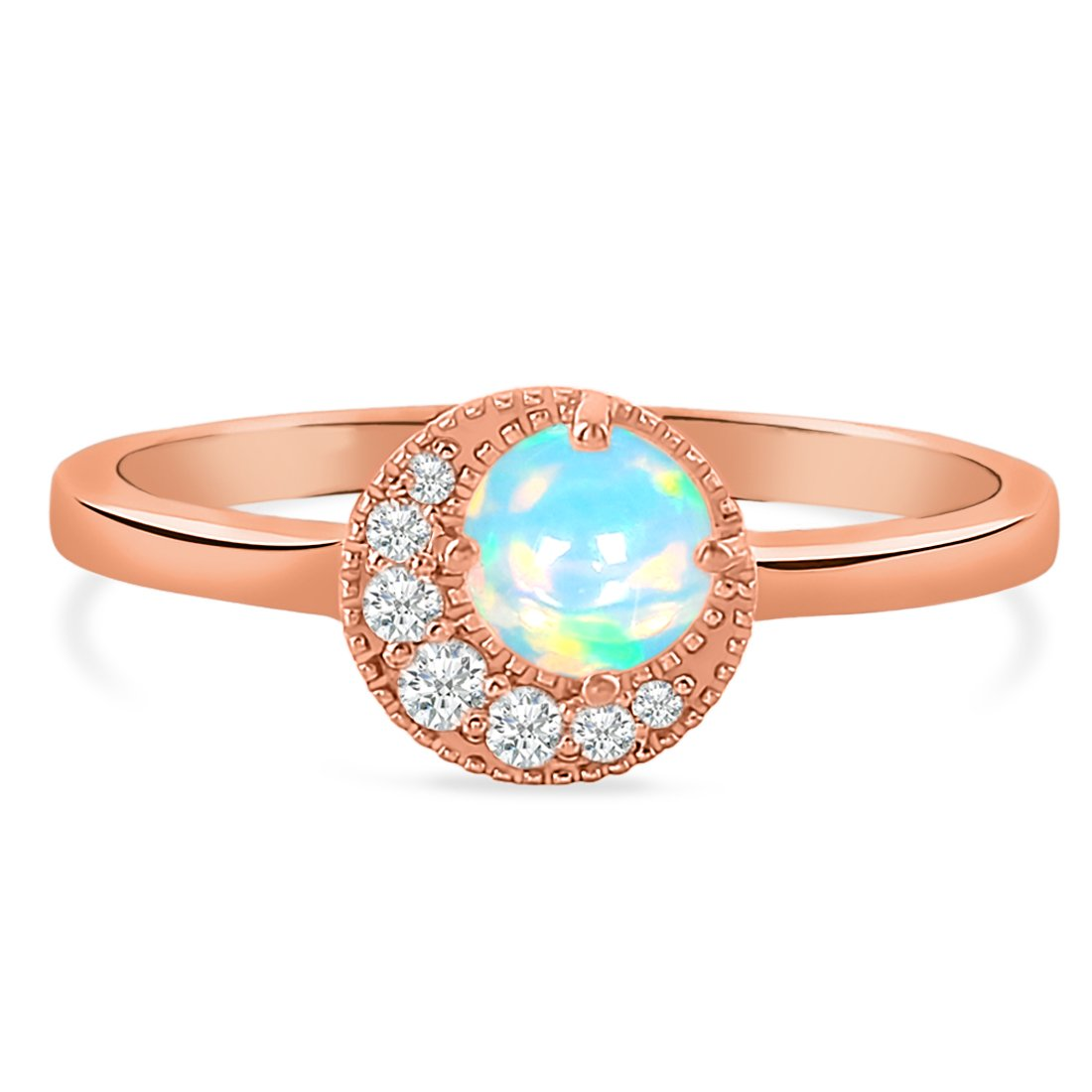 14k Rose Gold Vermeil Opal Ring-Above All