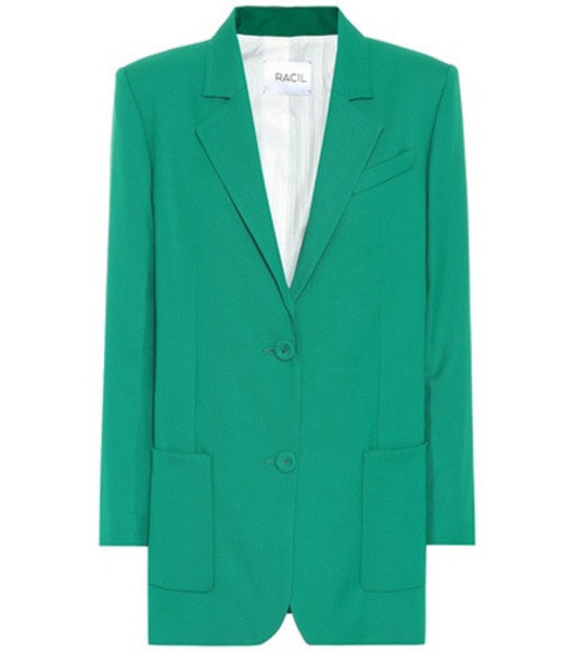 Racil Wool single-breasted blazer in green