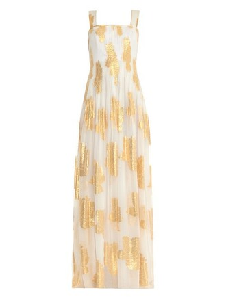 gown gold white dress