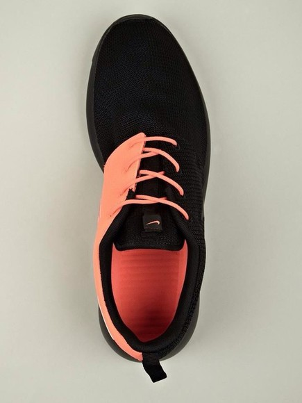 shoes orange black nike nike black and peach nike running shoes nike, free run, trainers, running, sport, athletic, white, grey, shoes, nike roshe run pink sneakers