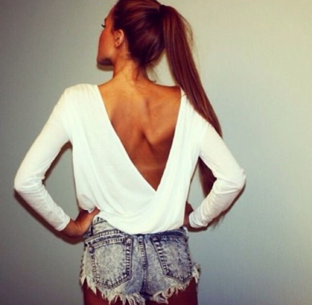 top white top acid washed shorts shorts