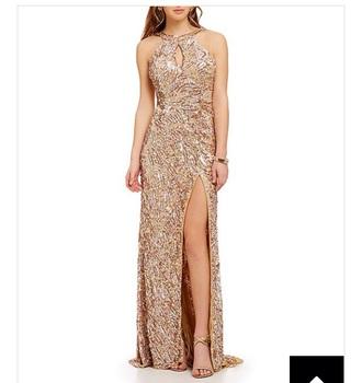 dress cheap dress gold dress long prom dress sequin dress sequins slit dress sexy dress long dress
