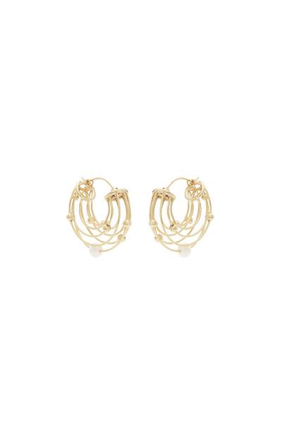 Ellery Classical Scaffolding Hoop Earrings  in gold