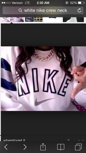 sweater,nike,sweatshirt,crewneck,white