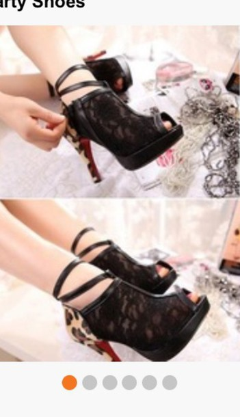 shoes leopard heel