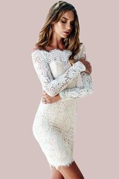 dress,white,white lace,white dress,lace dress,mini dress,slash neck dress,slash neck,sexy,sexy dress,sexy party dresses,eyelash lace,floral lace,see through dress,long sleeves,long sleeve dress,summer dress,party,party dress,date outfit,date dress,cute,cute dress,lined lace,clubwear,club dress,style,lookbook,all white everything,preppy,pretty,musthave,girly,girly wishlist,holiday dress,fashion inspo,mesh,sheer lace,off the shoulder dress,off the shoulder,off the shoulder top,moraki