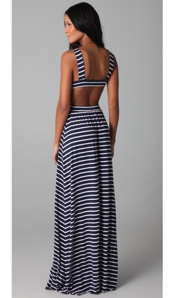 Dress: maxi dress maxi stripes striped dress summer dress ...