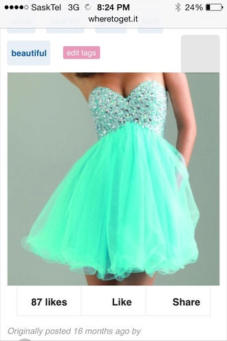 dress mint dress torquise formal event outfit
