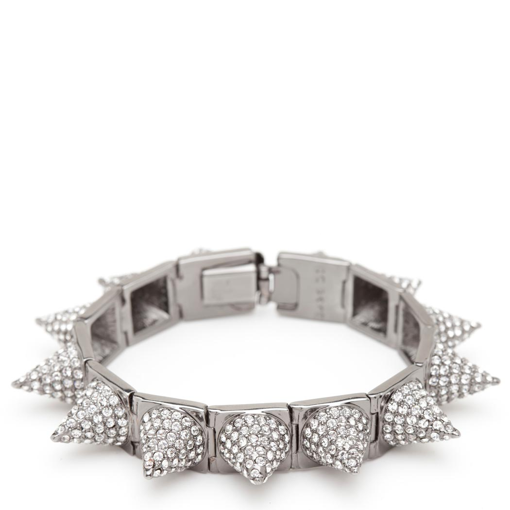 Cc skye silver pave punk princess spike bracelet : as seen on katy perry and taylor swift