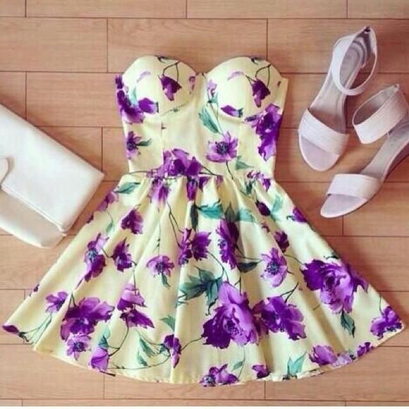 purple dress floral dress cute dress