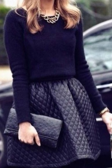 shirt black skater skirt
