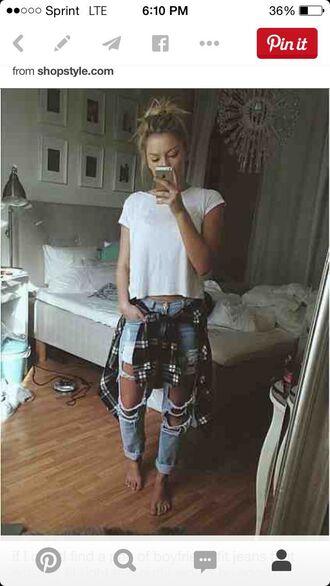 shirt grunge jeans