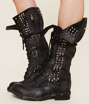 Campbell Studded combat boots for women-in Boots from Shoes on ...