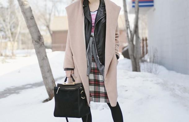 ordinary people coat hat sweater jacket bag skirt t-shirt