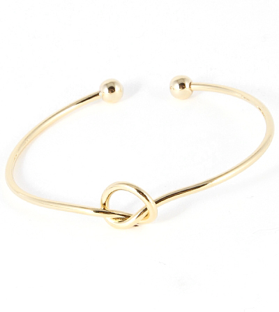 Knotted bangle bracelet