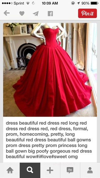 clothes red dress ballgown