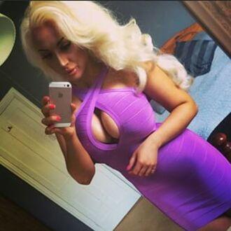 dress bandage dress bodycon dress sexy dress mini dress party dress club dress cut-out purple dress curvy dress