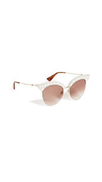 gucci sunglasses white brown