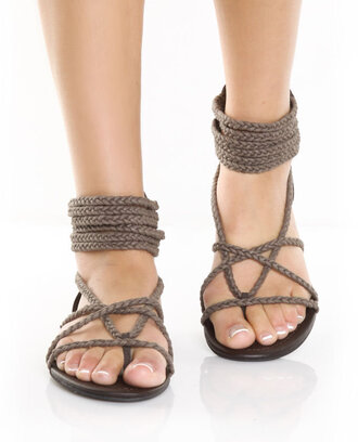 shoes sandals holidays brown shoes open toes rope summer shoes beach beach sandals womens shoes hipster country style hippie