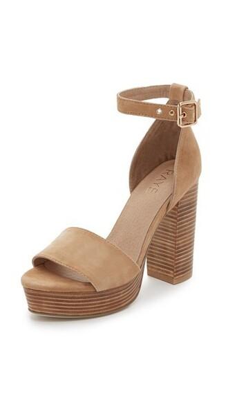 tan sandals platform sandals shoes