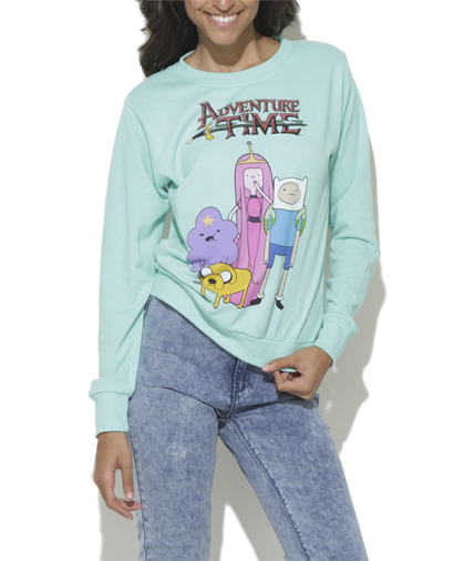 Adventure Time Sweatshirt Shop Sweaters At Wet Seal