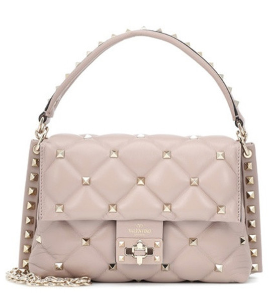 Valentino Garavani Candystud Medium leather shoulder bag in pink