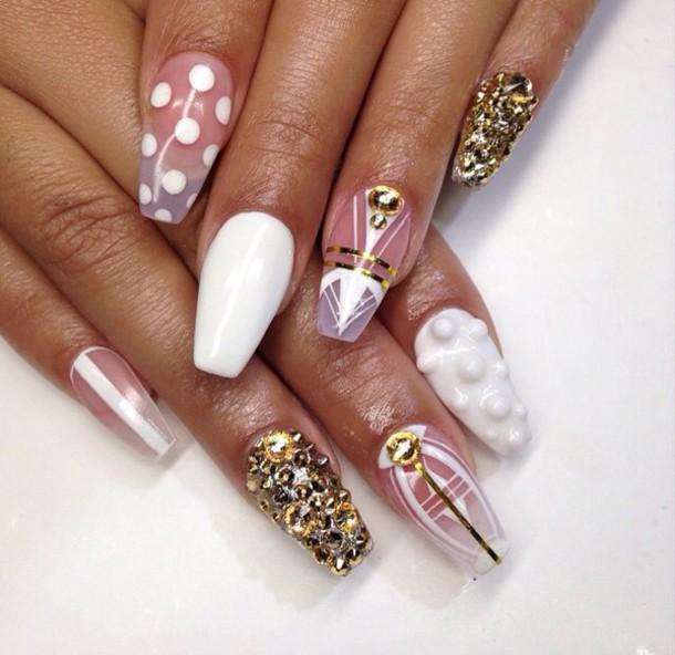 nail accessories white gold nail polish