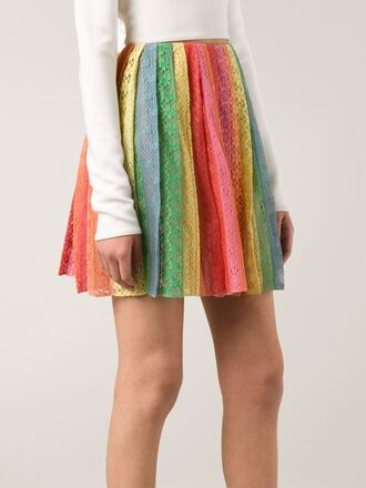 skirt striped broderie anglaise skirt valentino
