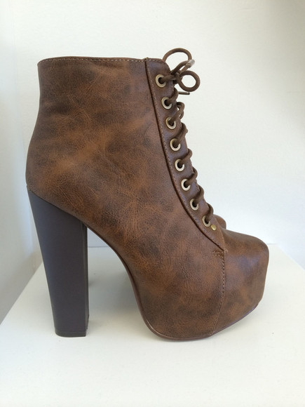 boots brown shoes high heels