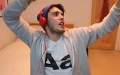 t-shirt,alfie,alfie deyes,youtube,white,aa,menswear,letters,shaved to the side