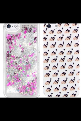 phone cover sparkle emoji print