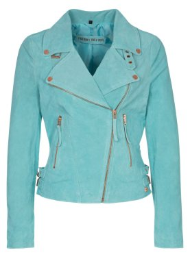 Freaky Nation TAXI DRIVER - Leather jacket - turquoise - Zalando.co.uk