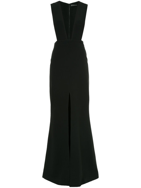david koma gown women spandex black dress