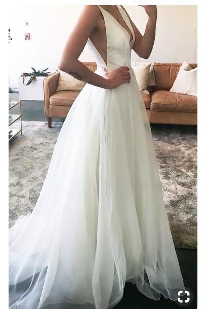 dress wedding dress white