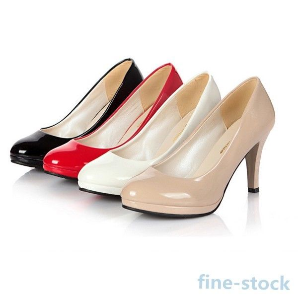 Women Classic Stilettos Office Ladies Dress Work Platform Pump High Heel Shoes | eBay