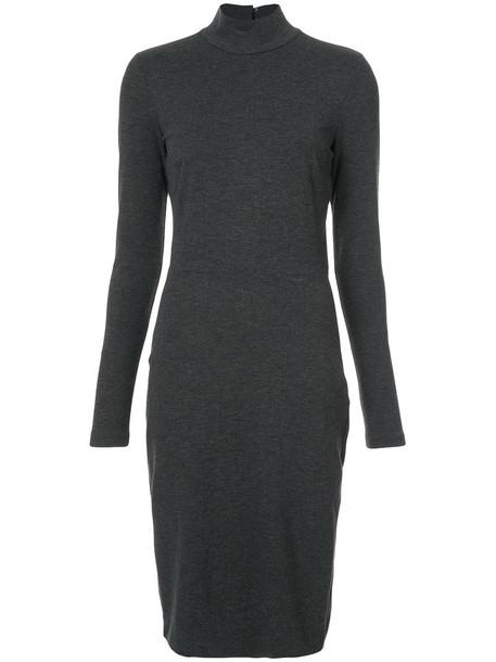 Fleur du Mal dress long women spandex black knit