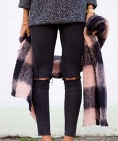 jeans,denim,ripped jeans,black jeans,high waisted jeans,skinny jeans,boyfriend jeans,blue jeans,white jeans,leggings,ripped,outfit,outfit idea,tumblr outfit,fall outfits,spring,spring outfits,streetwear,asos,black ripped jeans,scarf,jacket